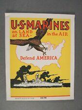 WWII U.S. Marine Corps Window Sticker Recruitment Item