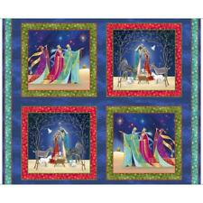 Christ is Born Christmas Religious Fabric Panel 100% Quilters Cotton