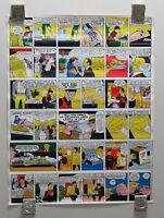 Vintage original 1974 Dick Tracy newspaper comic book strip funnies poster:1970s