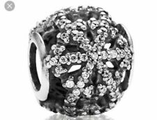 PANDORA Charm Christmas Snowflake 2013 Let It Snow Limited Edition RARE 791187cz