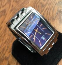 Men's Genuine Sekonda Rectangular Designer Watch Roman Purple Violet 1093