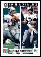 1991 QB Challenge #47 Troy Aikman & Roger Staubach HOF ODDBALL Dallas Cowboys