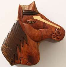 Wooden Puzzle Box- Horse's Head-FREE SHIPPING