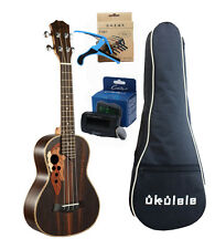 23 inch ukulele rosewood concert Tenor Ukulele send tuner trim folder piano bag