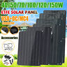 150W ETFE Flexible Solar Panel Dual USB Connect For Caravan Boat Camping PV