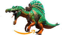 Ark Survival Evolved PC - PVE NEW - X-SPINO Level 400+ Not Leveled 1680 Damage!