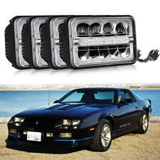 "For 1982-1992 Chevy Camaro IROC-Z28 4""x6"" LED Headlights Conversion Sealed Beam"