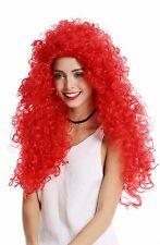PERRUQUE pour femme Cosplay Stark Boucles crinière long volumineux Fiery Rouge