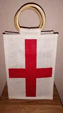 Cross of St George Flag Style Jute Carrier Bag,Size 200x285x100mm @ £5. 25p