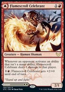 *Magic MtG: 4x Flamescroll Celebrant (Rare) - Strixhaven: School of Mages *TOP*