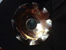 Jeanette Carnival Glass Iris & Herring Bone Marigold Fluted Bowl