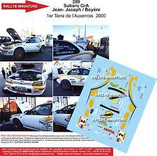 DÉCALS 1/18 réf 289 Subaru GrA Jean- Joseph / Boyère 1er Terre de l'Auxerrois