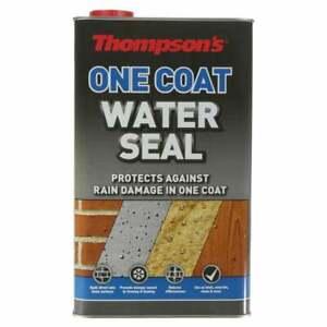 5L Thompson's Water Seal ONE COAT Waterproof Brick Stone Rain Protection
