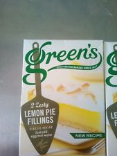 Green's Zesty Lemon Pie Filling  4 x 70g 2 boxes free delivery