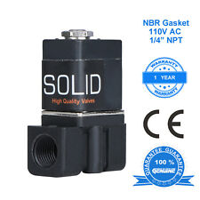 """1/4"""" Solenoid Valve Normally Closed 120 V AC Nylon  Air Water"""