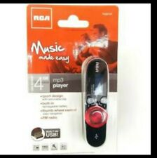 RCA 4GB Music MP3 Player Sport Design FM Tuner Thumb Wheel Rechargeable Battery