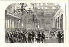 1862 BANCHETTO Exchange gothenberg FERROVIA APERTURA Stoccolma