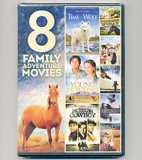 8 Family Adventure Movies DVDs Time Wolf Pioneers Cowboy Cabe Hawk Seven Harvest