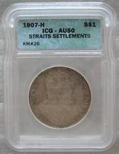 STRAITS SETTLEMENTS $1 1907 Silver Dollar Edward VII