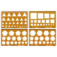 Helix Form Schablone Set Dreieck, Square, Pentagon, hexagon. Ref H60010 4er Pack