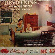 DEVOTIONS Lord's Prayer & 23rd Psalm 1950's - 78 Childcraft / Monty Wooley