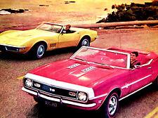 1968 CHEVY CAMARO SS & CORVETTE ORIGINAL AD-350/396/v8 engine/RS/Z28/door/hood