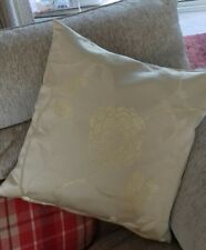 Gold coloured floral cushion cover 18 x 18""