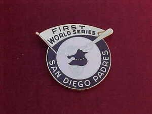 1984 San Diego Padres World Series Media Press Pin - Detroit Tigers