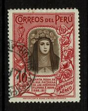 Peru SC# C39, Used, Hinge Remnant, writing on back - S11309