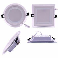 Hot 6W 9W 12W 18W LED Glass Recessed Ceiling Panel Light Downlight Square Round