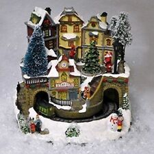 Miniature Christmas Village Nativity Scene Ornaments Musical LED Xmas decoration