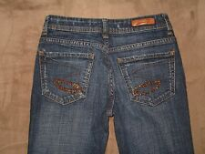 "Seven7 Size 27 Flare Dark Blue Stretch Denim Womens Jeans 32"" Inseam"