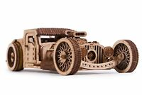 Wood Trick Hot Rod Retro Car Mechanical Wooden 3D Puzzle Model DIY Kit Gift
