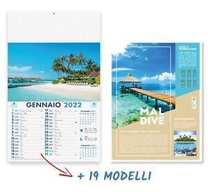 Calendario 2022 da Muro Illustrato Vintage 19 Modelli differenti Rubrica Appunti