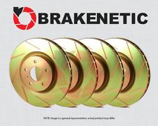[FRONT + REAR] BRAKENETIC SPORT SLOTTED Brake Disc Rotors BSR93856