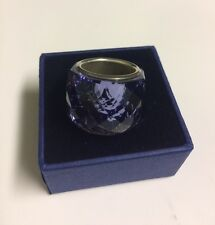 NEW SWAROVSKI NIRVANA RING TANZANITE BLUE SIZE EUR 55 / US 7 (M) #892212