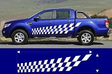 VINYL GRAPHIC CHECKERED DECAL CAR TRUCK KIT CUSTOM SIZE COLOR VARIATION MT-193