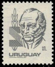 """URUGUAY 1077 (Mi1600) - General Jose Artigas """"1980 Dark Grey"""" (pa35040)"""