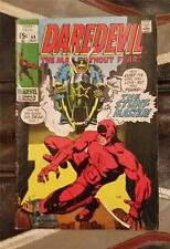 DAREDEVIL THE MAN WITHOUT FEAR COMIC No.64 BRONZE AGE 1970 12c vs STUNT MASTER
