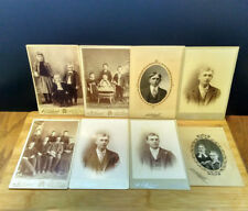 Antique A.P. Holland CABINET CARD Collection Qty. 8 Grand Forks ND Portraits