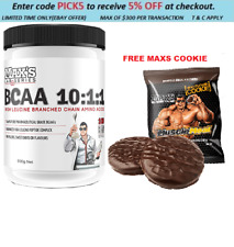 MAXS BCAA 10:1:1 500G  HIGH LEUCINE 100SERVES RECOVERY HIGH POTENCY FREE COOKIE