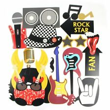 18pcs Rock & Roll Party Photo Booth Props Jazz Punk Music Band Photography Decor