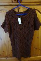 Oasis Rust Brown Short Sleeve Jumper Top