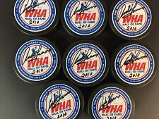 Andre Lacroix Autographed Wha Hof Puck W/Coa 2010 Inscription