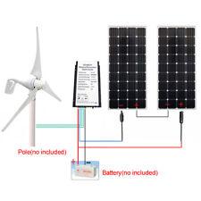 650w/h 12v Hybrid System 400w WA Wind Turbine Generator &250w Mono Solar Panel