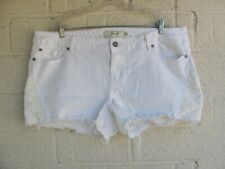 WOMEN'S TORRID SHORTS PLUS SIZE 20 BASIC SHORT STRETCH WHITE DENIM PRE OWNED
