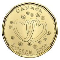🇨🇦 2020 New Canada Special WEDDING $1 One Dollar Coin Loonie, 2020