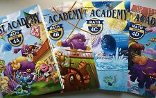 Beast Academy 4A, 4B, 4C, 4D Guide and Practice Books - Complete 4th Grade Set
