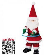 Weihnachtsmann mit Hula-Hoop Reifen - Dekofigur mit Musik