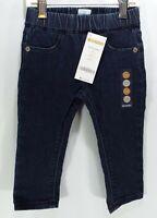 Gymboree Toddler Girls Stretch Elastic Waist Dark Denim Jeans New NWT